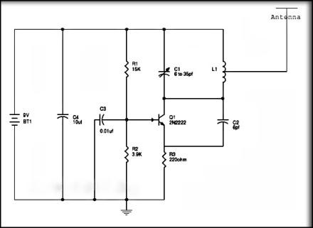 Circuit Diagram of Simple FM Radio Jammer