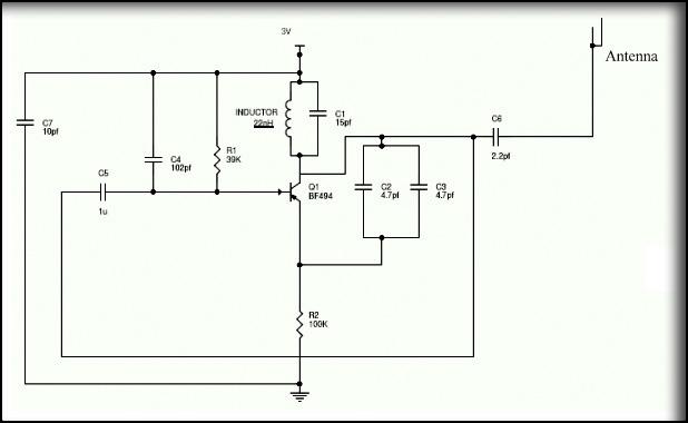 Simple Mobile Jammer Circuit Diagram